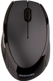 Toshiba Wireless Optical Mouse W80 - Ergonomic fit