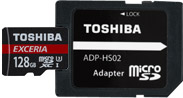 Toshiba Exercia™ M302 with Adapter - Fully Compliant with the Latest SD Association Specification