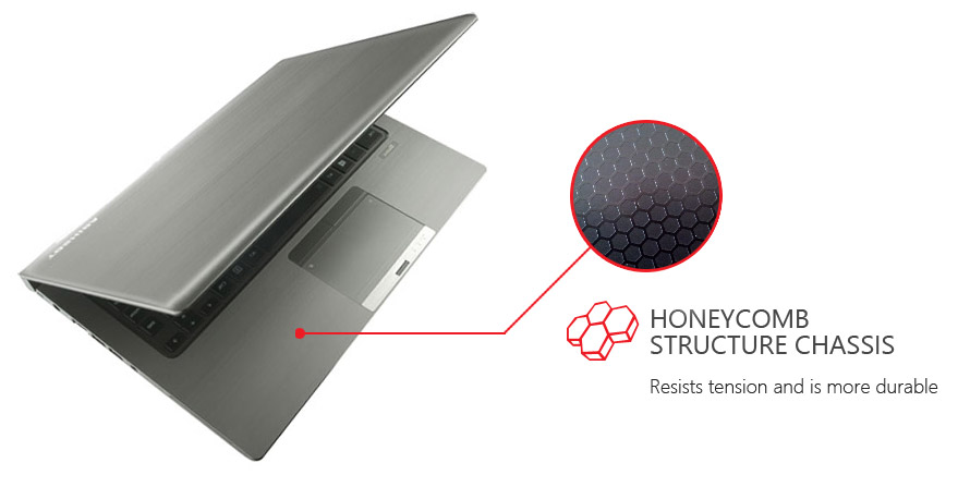 Toshiba Tecra Z40 - Honeycomb Structure Technology